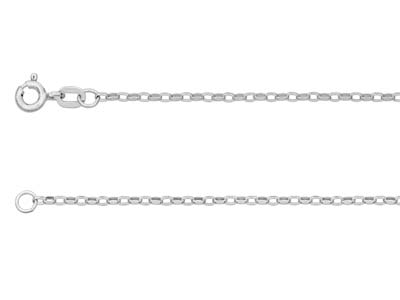 9ct White Gold 1.7mm Diamond Cut   Belcher Chain 1845cm Hallmarked