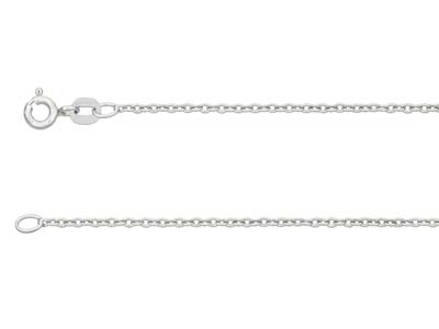 9ct White Gold 1.5mm Cable Chain   1640cm Hallmarked