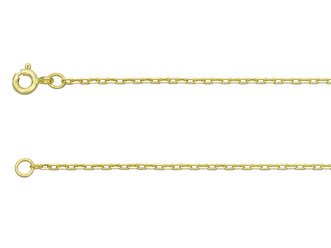 "9ct Yellow Gold Venetian Box Chain 20/"" Pendant Chain 50cm/"" Wide 1.5mm Luxury"