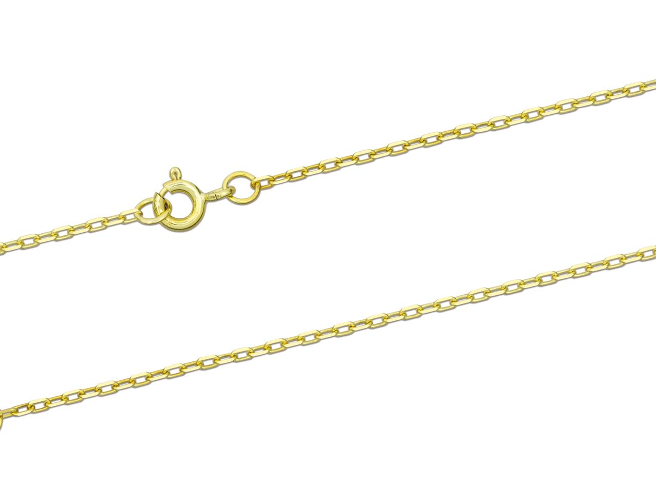 9ct Yellow Gold 1.5mm Diamond Cut  Square Belcher Chain 18