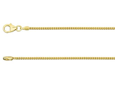 18ct Yellow Gold 1.1mm Franco Chain 1845cm Hallmarked