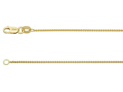 18ct Yellow Gold 25 Spiga 1640cm Hallmarked