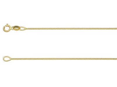 18ct Yellow Gold Diamond Cut Finished Chain