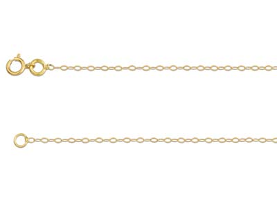 18ct Yellow Gold 0.8mm Diamond Cut Trace Chain 1640cm Unhallmarked