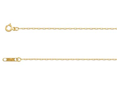 18ct Yellow Fine Finished Chain    Square Dia Belcher Hallmarked      0.95mm Wide, 1640cm With Bolt    Ring