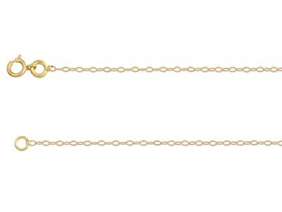 18ct Yellow Gold 1.3mm Diamond Cut Trace Chain 1640cm Unhallmarked