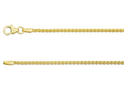 18ct Yellow Gold 1.5mm Spiga Chain 2050cm Hallmarked