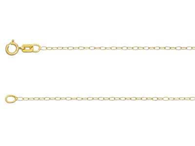 18ct Yellow Gold 1.1mm Trace Chain 1845cm Unhallmarked