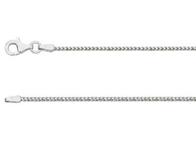 18ct White Gold 1.6mm Franco Chain 1640cm Hallmarked
