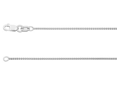 18ct White Gold Spiga Finished Chain
