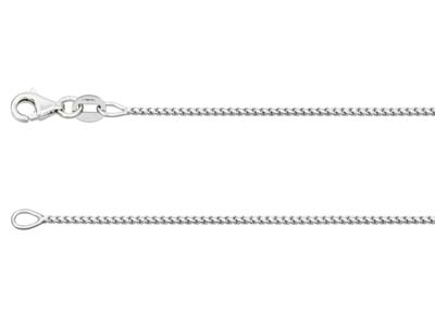 18ct White Gold 1.4mm Franco Chain 1845cm Hallmarked