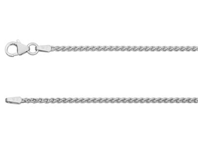 18ct White Gold 1.5mm Spiga Chain  1845cm Hallmarked