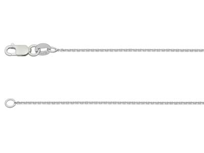 18ct White Gold 0.6mm Belcher Chain 1640cm Hallmarked