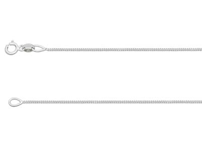 18ct White Gold 0.9mm Diamond Cut  Curb Chain 1640cm Hallmarked