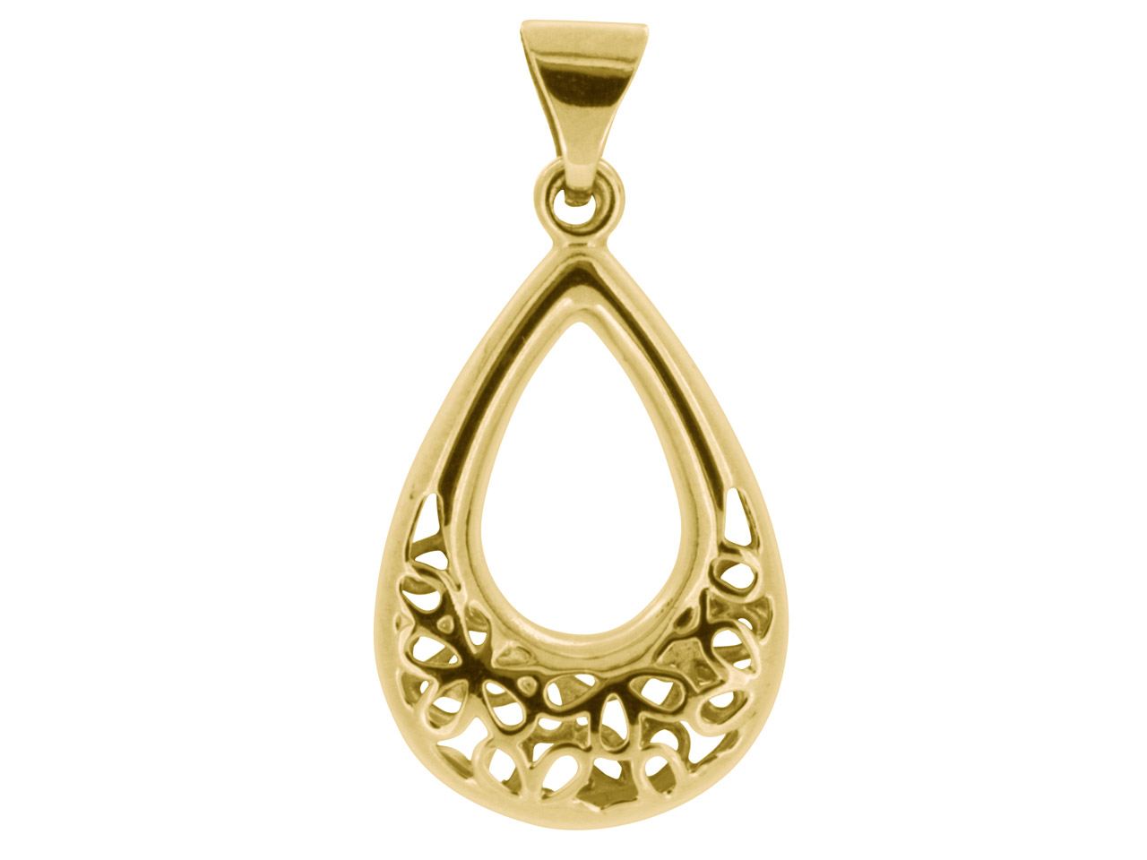 9ct Yellow Filigree Design Double  Sided Pendant