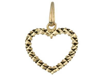 9ct Yellow Gold Heart Outline      Pendant