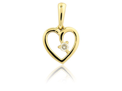 9ct-Yellow-Heart-Pendant-With-1----Di...