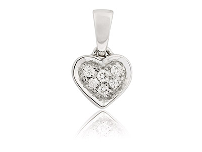 9ct-White-Heart-Pendant-With-6-Pave-S...