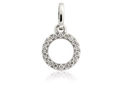 9ct-White-Circle-Outline-Pendant,--Di...