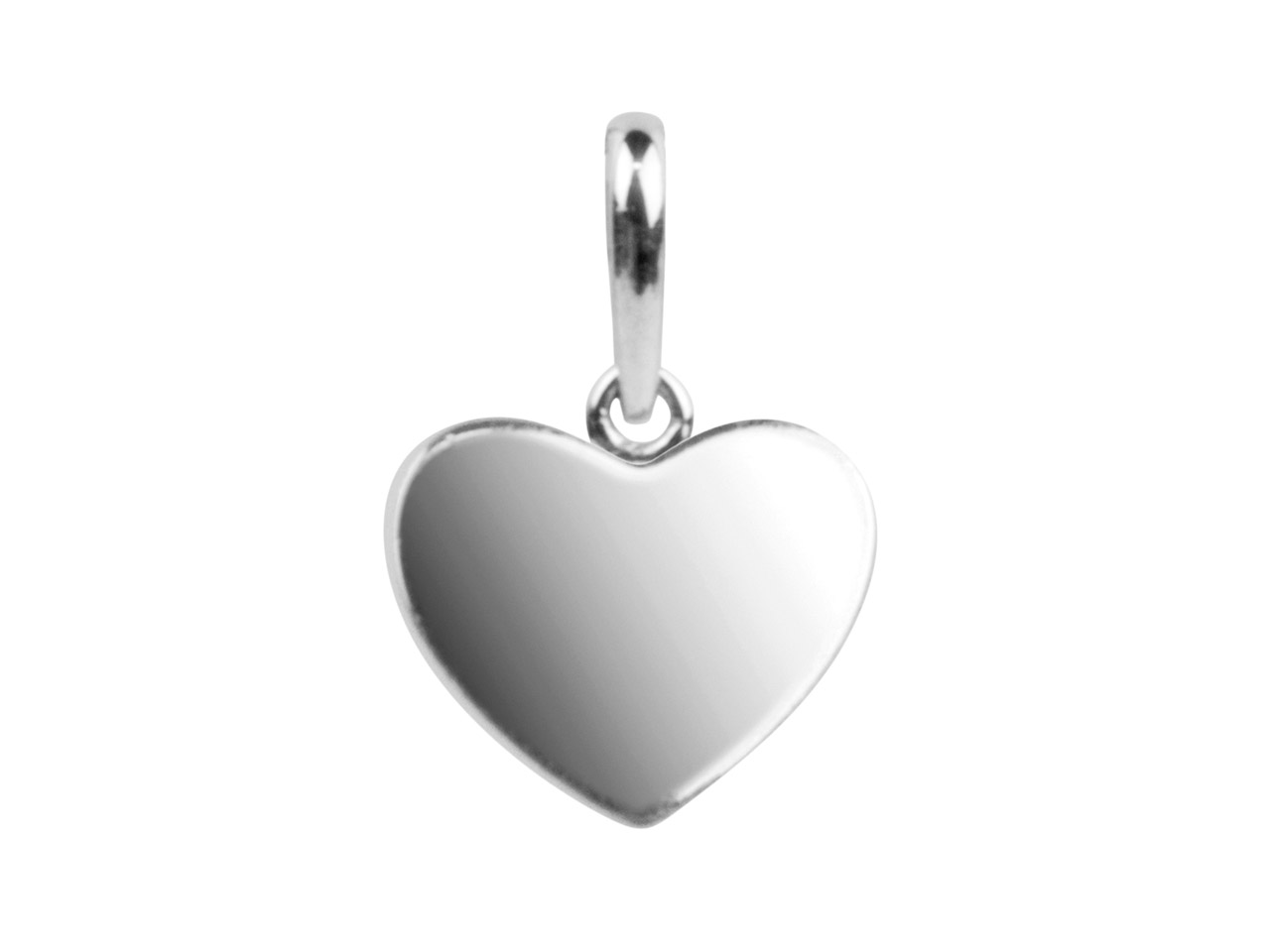 Sterling Silver Pendant Delicate   Heart