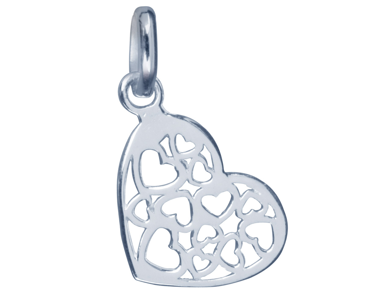 Sterling Silver Pendant Hearts