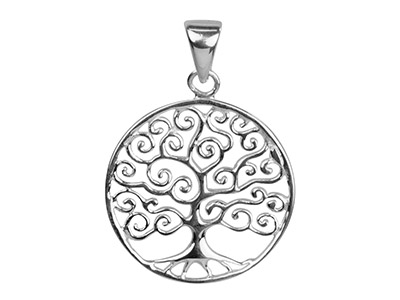 Sterling Silver Pendant Tree Of    Life Contemporary Design