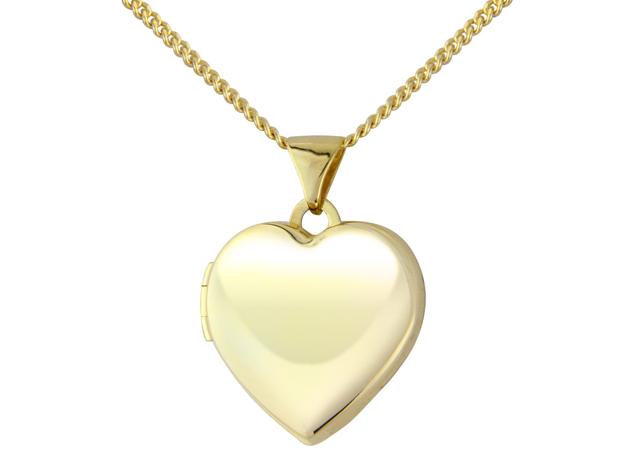 Sterling Silver Pendant Yellow     Rhodium Plated Heart And 18