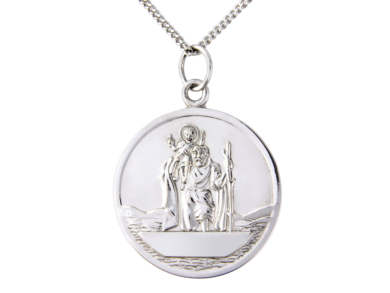Sterling Silver St Christopher And 18