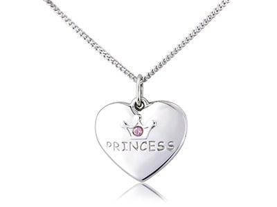 Sterling-Silver-Pendant-Heart-And--18...
