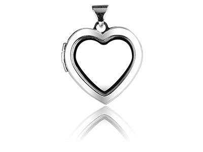 Sterling Silver Locket 18mm Window Heart Design For Holding Precious  Items