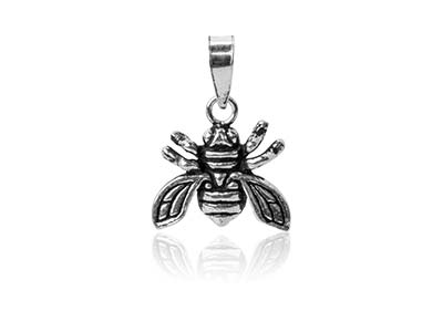 Sterling Silver Bee Design Pendant