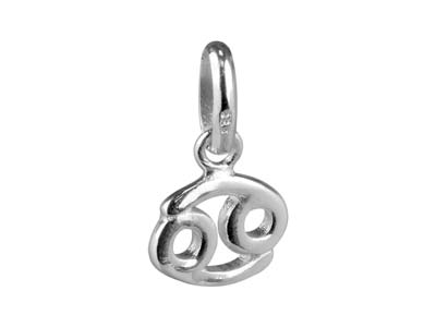 Sterling Silver Cancer Horoscope   Design Pendant