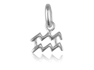 Sterling Silver Aquarius Horoscope Design Pendant