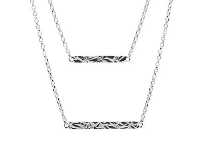 Sterling Silver Double Bar Design  Necklet