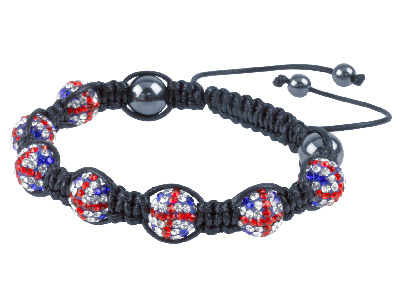 Shamballa Bracelet, Union Crystal Glitter Ball And Hematite