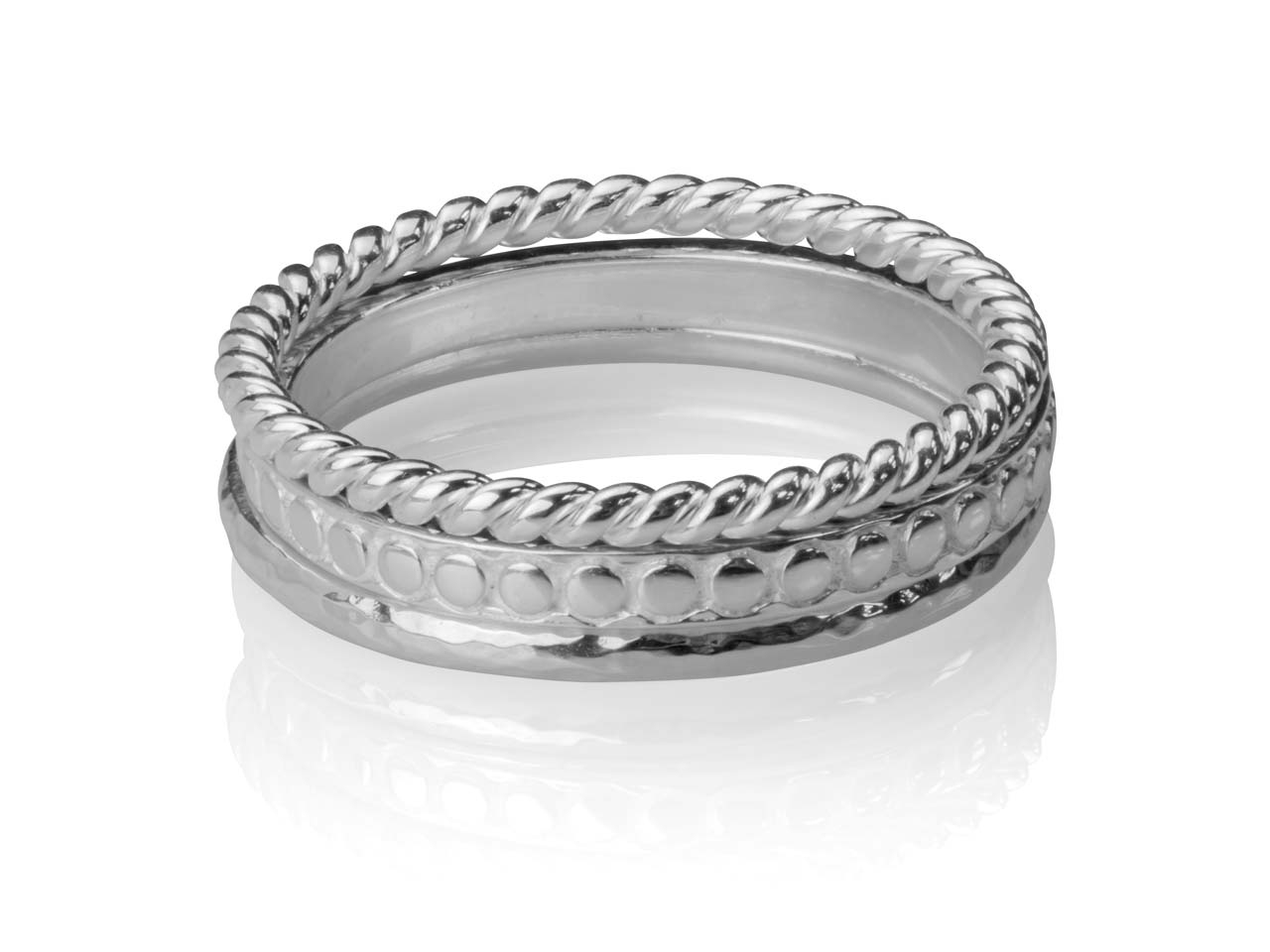Sterling silver Hammered stacking ring band textured ring stacking ring
