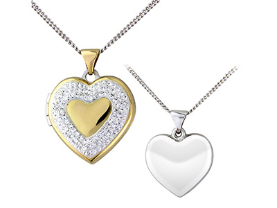 Sterling-Silver-9ct-Yellow-Heart---Lo...