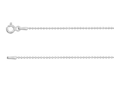 Sterling Silver 1.2mm Ball Necklet 18""