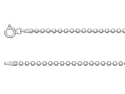 Sterling Silver 2.2mm Ball Chain   1845cm Unhallmarked
