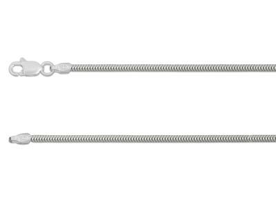 Sterling Silver 1.6mm Snake Chain  1845cm Unhallmarked