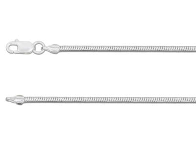 Sterling Silver 1.9mm Snake Chain  1845cm Unhallmarked