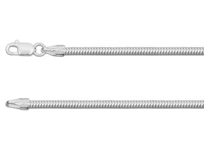 Sterling Silver 2.4mm Snake Chain 1640cm