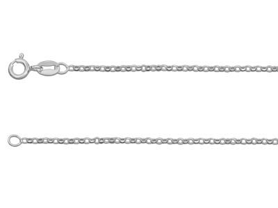 Sterling Silver 2 Diamond Cut Belcher 20