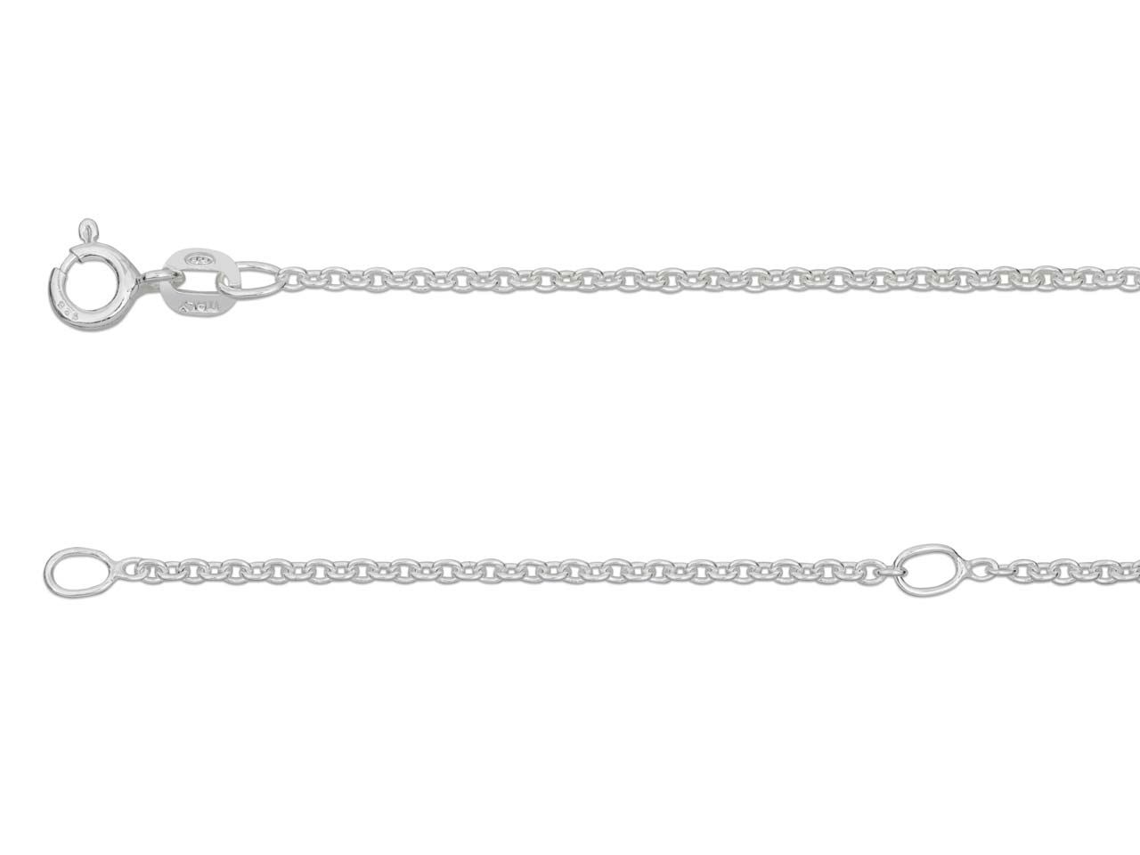 Sterling Silver 1.6mm Extendable   Belcher Chain 16-18