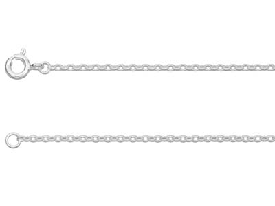 Sterling Silver 1.7mm Belcher Chain 1845cm Unhallmarked