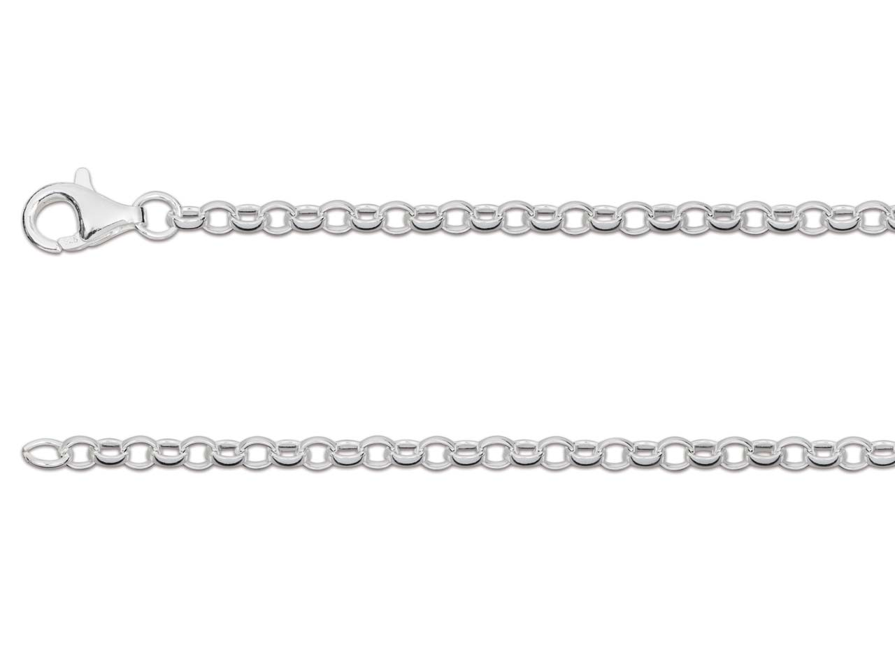 Sterling Silver 2.5mm Belcher Chain 18