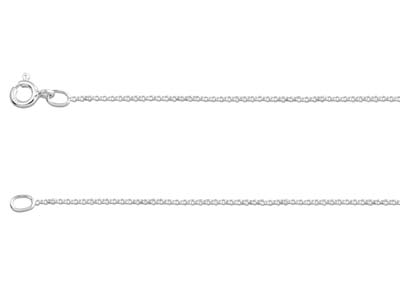 Sterling Silver 1.0mm Mini Belcher Chain 2460cm Unhallmarked