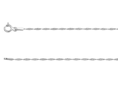 Sterling Silver 1.2mm Twisted Curb Chain 1640cm Unhallmarked