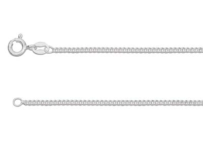 Sterling Silver 1.7mm Curb Chain   1845cm Unhallmarked