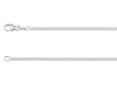 Sterling Silver 2.1mm Curb Chain   1845cm Unhallmarked